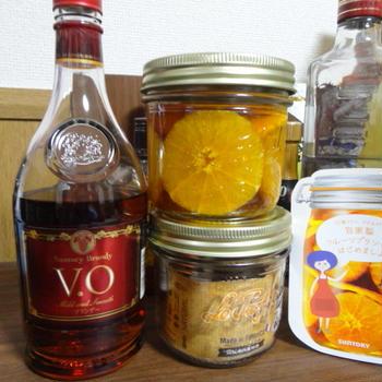 オレンジのフルブラとブランデーケーキ