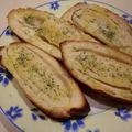 ドイツパンでガーリックブレッド