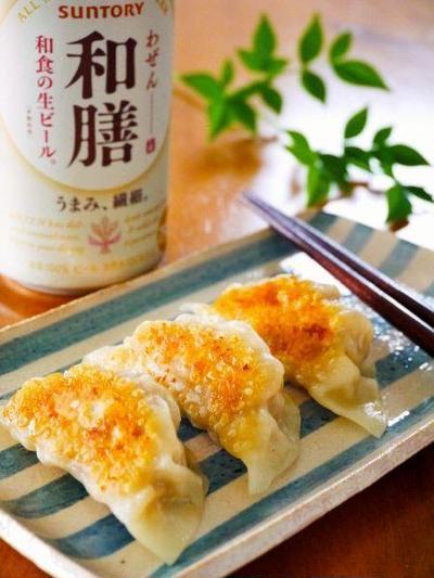材料3つ!えのき餃子@柚子胡椒味♪簡単おつまみ家飲みレシピ