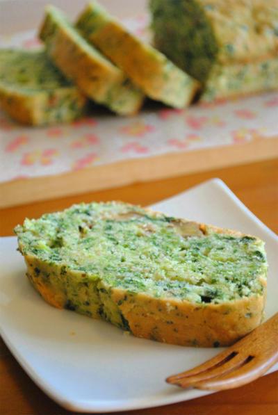 ホットケーキミックスで♪菜の花とクルミの 春色パウンドケーキ ☆