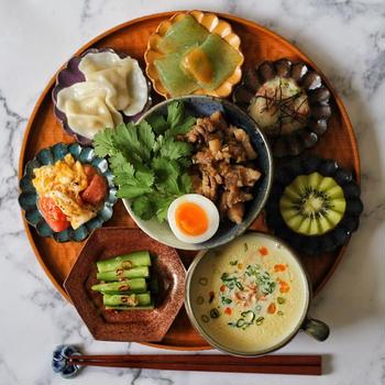 大同電鍋で台湾料理の朝ごはん。
