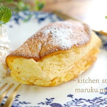 ふわふわ~この食感がたまらない!卵焼き器で作る*チーズスフレ