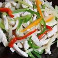 鶏ムネ肉と香味野菜の炒めもの by OKYOさん