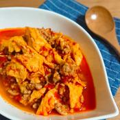 ハーブ香るトマトとひき肉の卵炒め