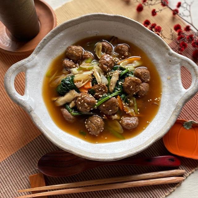 9月最後の日♡とミートボールアレンジレシピ!ミートボールと小松菜のオイスターあん