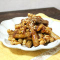 醤油麹で免疫力アップ↑ゴボウとクルミの甘辛