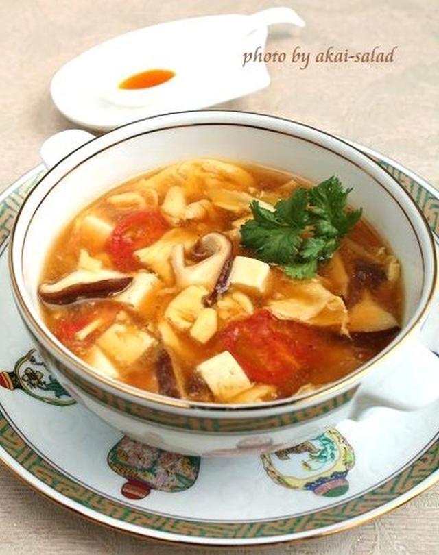 豆腐とトマトの酸辣湯