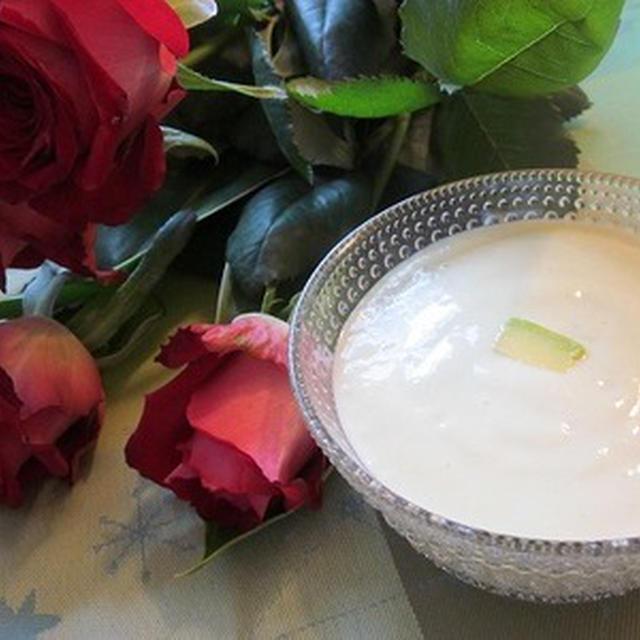 豆乳とアボカドの白だし冷製スープ♪