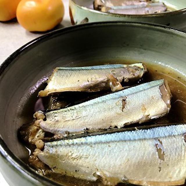 圧力鍋で骨ごと食べられるサンマの梅酢煮♪