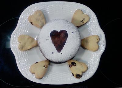 ハートクッキーとガトーショコラのコラボバレンタイン♥