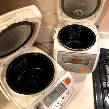 炊飯器の2台体制は想像していたより便利