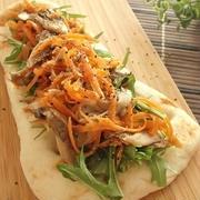 簡単ヘルシー♪舞茸と水菜のサラダナン