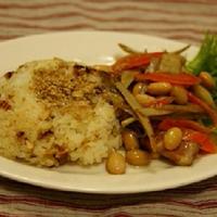 イソフラボンたっぷり大豆と根菜のマリネプレート