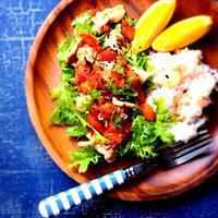 豆板醤風味の豚しゃぶおかずサラダ