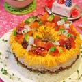 雛祭り海鮮リングちらし寿司ケーキ☆