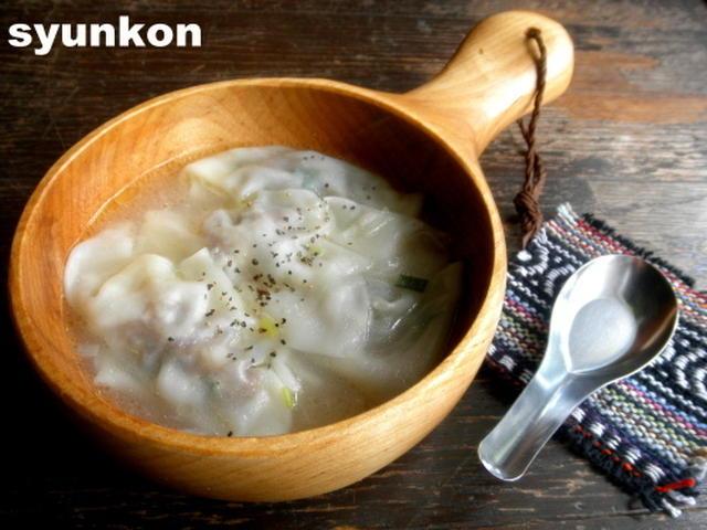 ねぎ塩ワンタンスープ