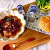 豚の脂身と豆のスープ