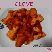 豚肉と白いんげん豆のトマト煮 クローブ使用