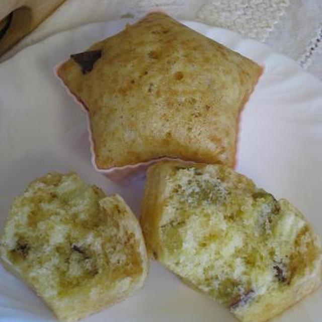 さつま芋の甘露煮入り蒸しパン