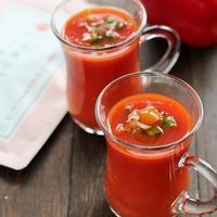 ガスパチョ風パプリカの冷たいスープ