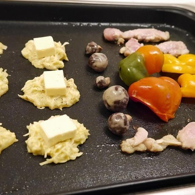 ★ 漬け鶏と漬け茸の鉄板