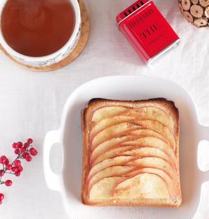 《レシピ》りんごトースト