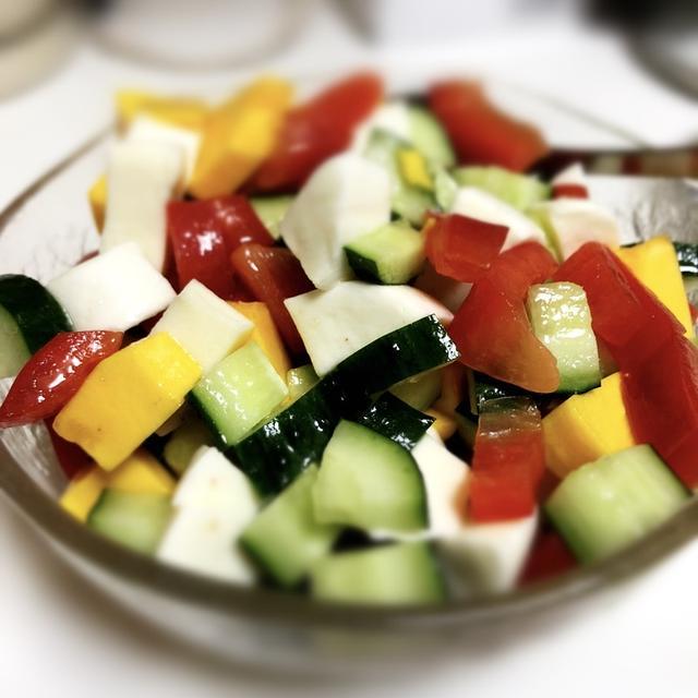 夏野菜のカプレーゼ