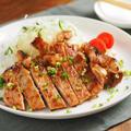 豚肉のタバスコ味噌焼き 、 焼いても縮まず、しっとり柔らかい!