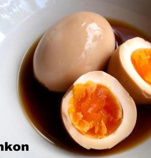 【ラーメン屋さんの】半熟味付け煮卵*味付け煮卵丼定食