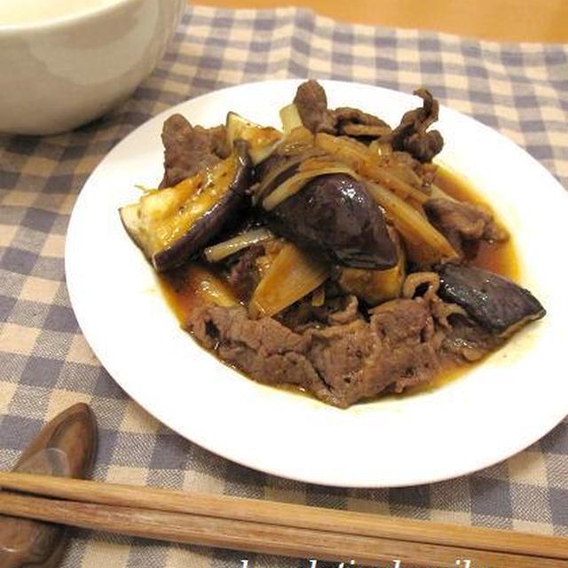 ルクエでナスと牛肉の甘辛蒸し