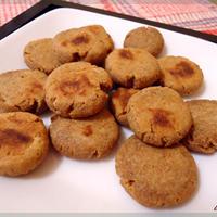 きな粉と全粒粉のはちみつレンジクッキー
