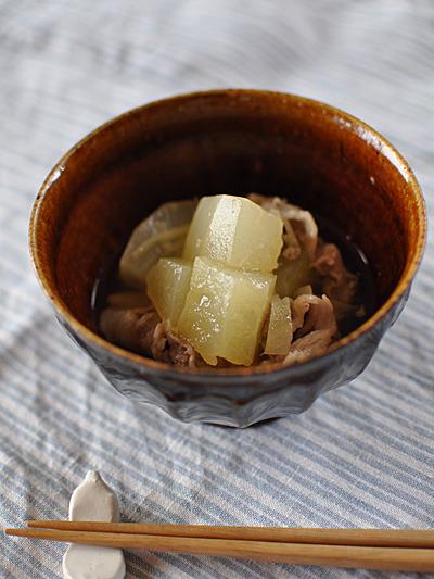 瓜と豚肉のあんかけ煮