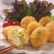 チーズ風味の枝豆コロッケ