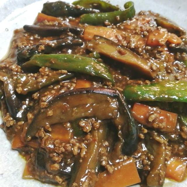 麻婆茄子 & チンゲン菜で八宝菜『おまけのお弁当』
