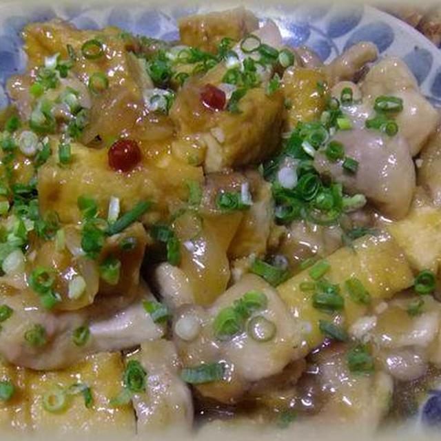 鶏肉と厚揚げのピリ辛煮