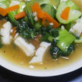 イカとチンゲン菜の中華あん炒め