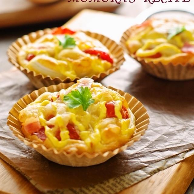 ホットケーキミックスで簡単30分お菓子なパン♡ベーコン・トマト・オニオンお総菜パン♪春休みにも