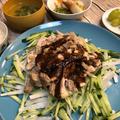 お湯ポチャ料理!!バンバンジーと中華煮が同じ鍋で一気に夕飯が完成!