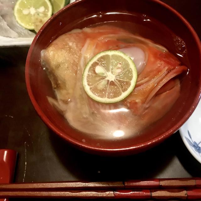 リーズナブルなのに料亭の味 金目鯛の潮汁(あら汁)