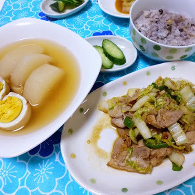 ★白菜と豚肉のピリ辛味噌炒め★ で晩ごはん〜朝ごはんも♪