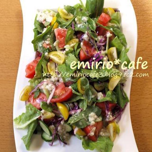 塩麹ドレッシングのカラフル野菜サラダ
