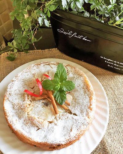 「世界の料理で異文化交流」の打ち合わせ~シナモン香るレーズン入りリンゴのアップサイドダウンケーキ
