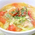 ツナとレタスのトマトスープ|レシピ・作り方