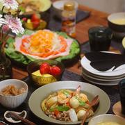 【献立】中華丼とハムサラダなどなど。~オリンピックは冬季派~