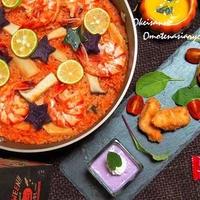 もうすぐハロウィン♪ 紫芋を使ってハロウィン仕様の簡単パエリア&お芋のムース    &宝酒造みりんコンテストの賞品♪