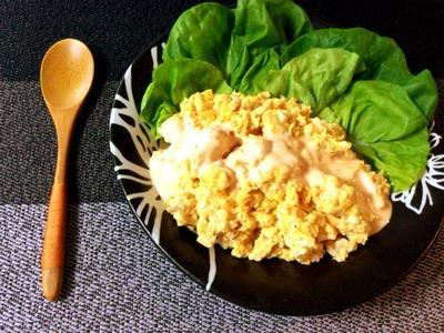 お待たせ3分。ツナ豆腐エッグのスイチリマヨヨーグルト(糖質3.5g)