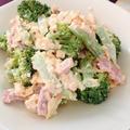 レンジで簡単!ブロッコリーの卵サラダ#ベーコン #ミモザサラダ #レンチン #電子レンジ