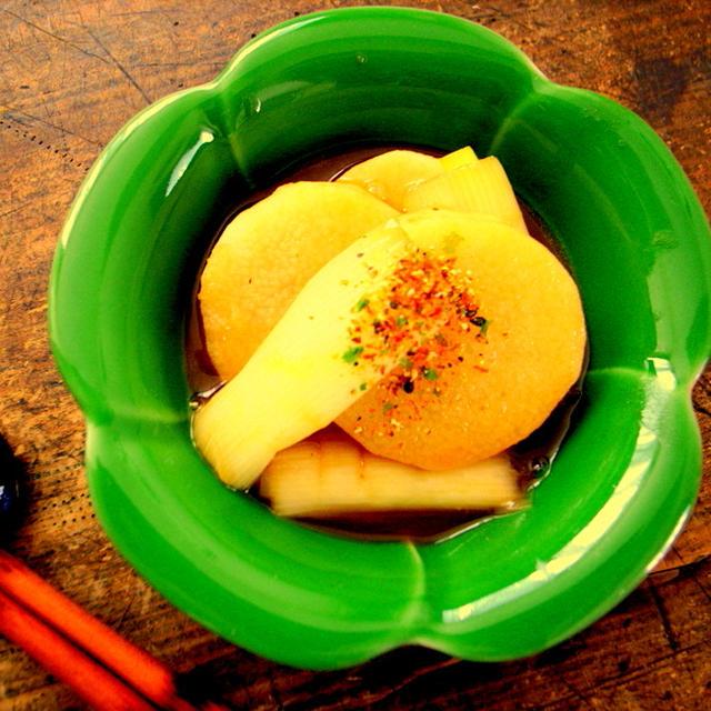 超簡単!長芋&長葱のオイスターソースの炒め煮