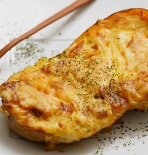 バターナッツかぼちゃのまるごとグラタンのレシピ