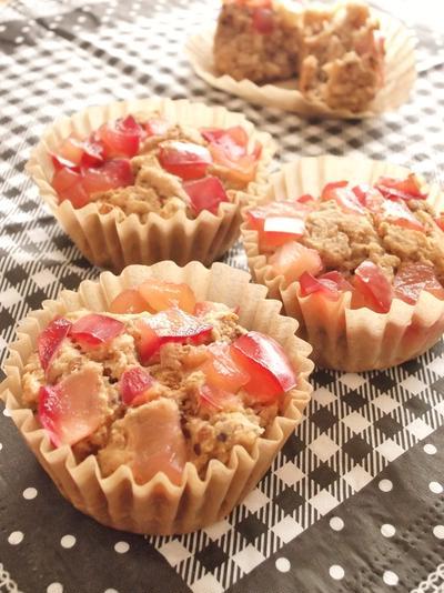プルーンりんごおからカップケーキ